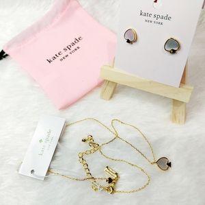 🎀 Kate Spade signature spade jewelry set